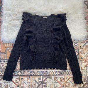 LoveShackFancy Black Alpaca Knit Sweater - L